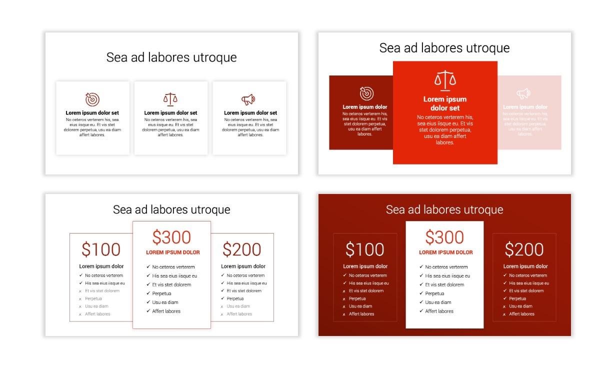 Minimal PPT Templates - Red - Monochrome - Interior Design - Real Estate Slide8