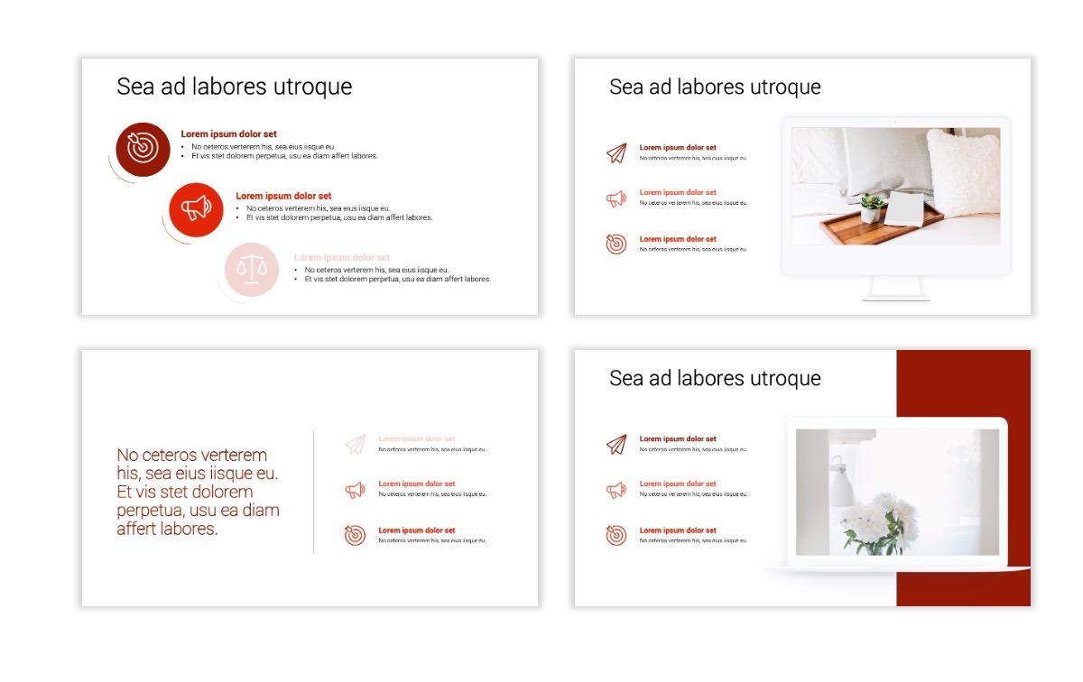 Minimal PPT Templates - Red - Monochrome - Interior Design - Real Estate Slide9