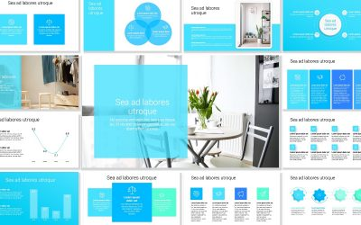 Toronto Minimal Bright Blue Free PowerPoint Template