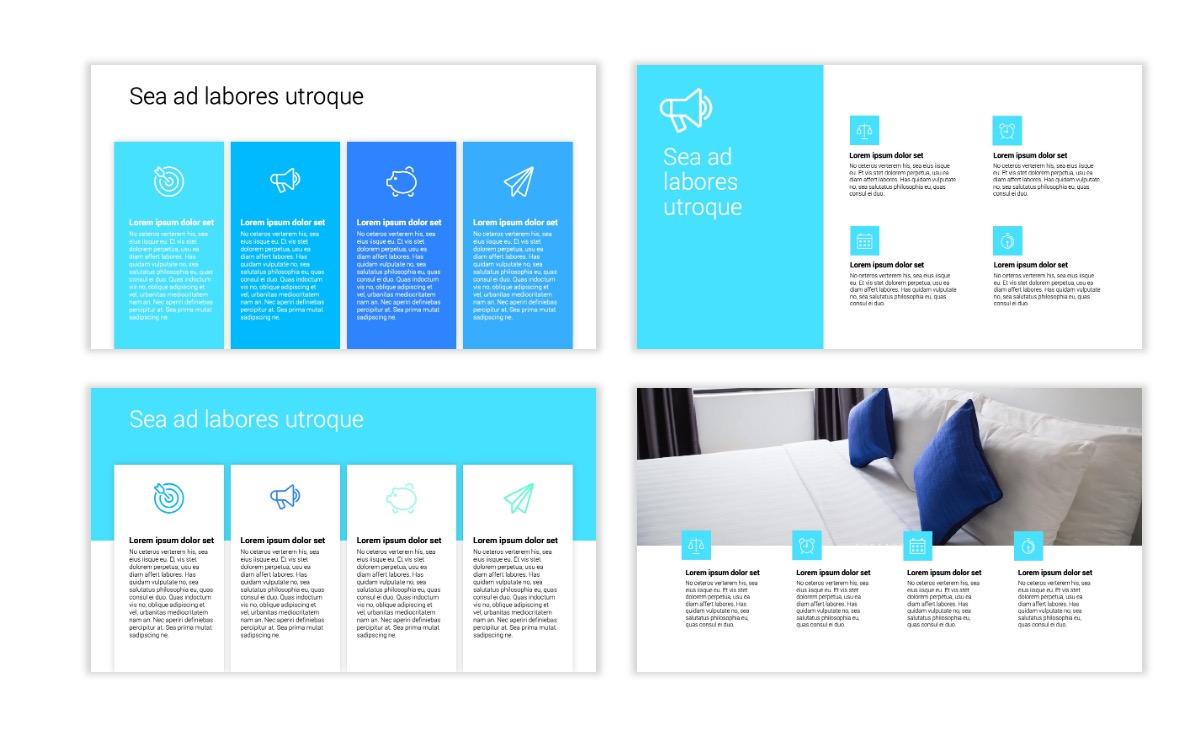 Minimal PPT Templates - Seafoam - Bright - Monochrome - Interior Design - Real Estate Slide13