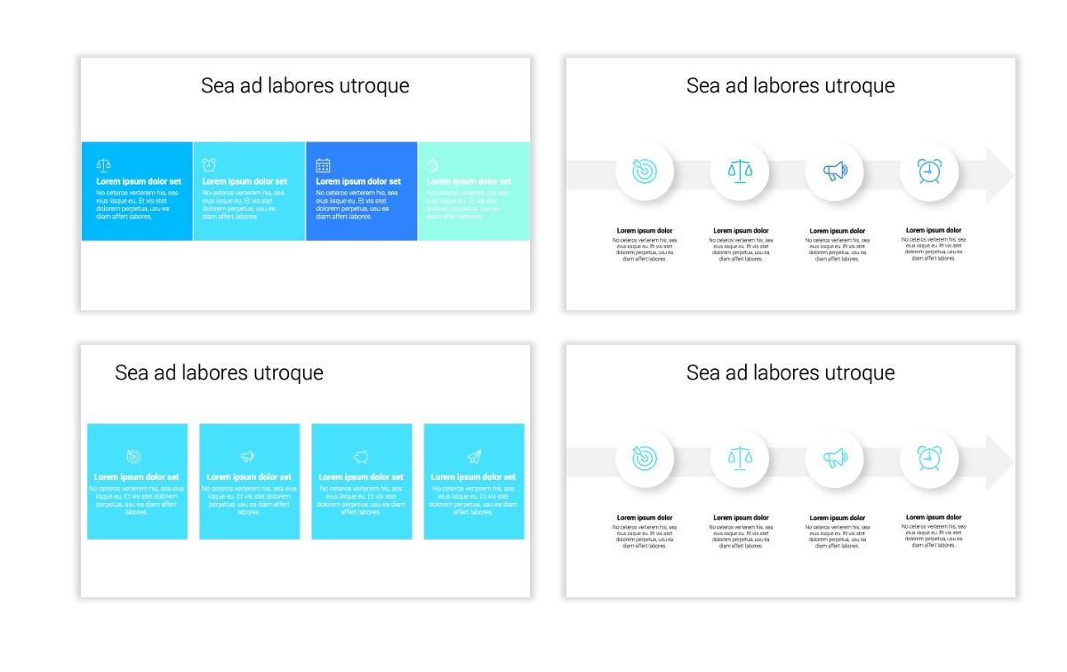Minimal PPT Templates - Seafoam - Bright - Monochrome - Interior Design - Real Estate Slide14