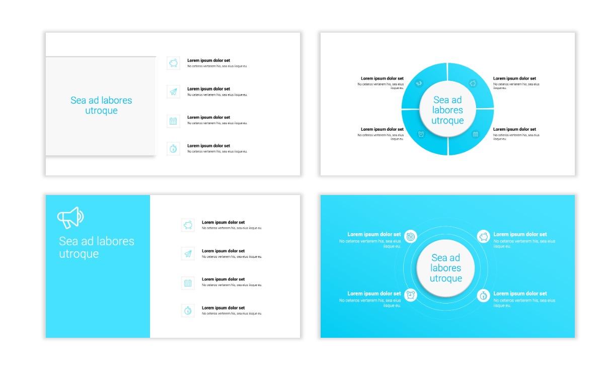 Minimal PPT Templates - Seafoam - Bright - Monochrome - Interior Design - Real Estate Slide15