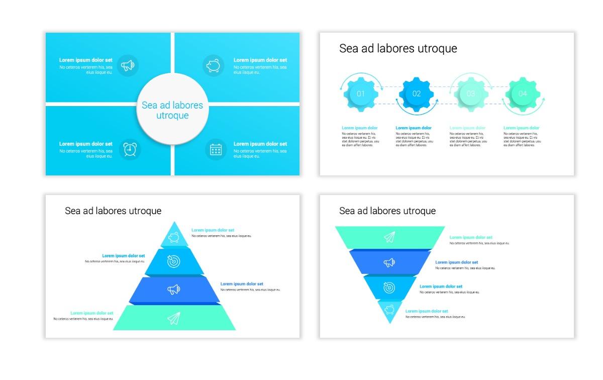 Minimal PPT Templates - Seafoam - Bright - Monochrome - Interior Design - Real Estate Slide16