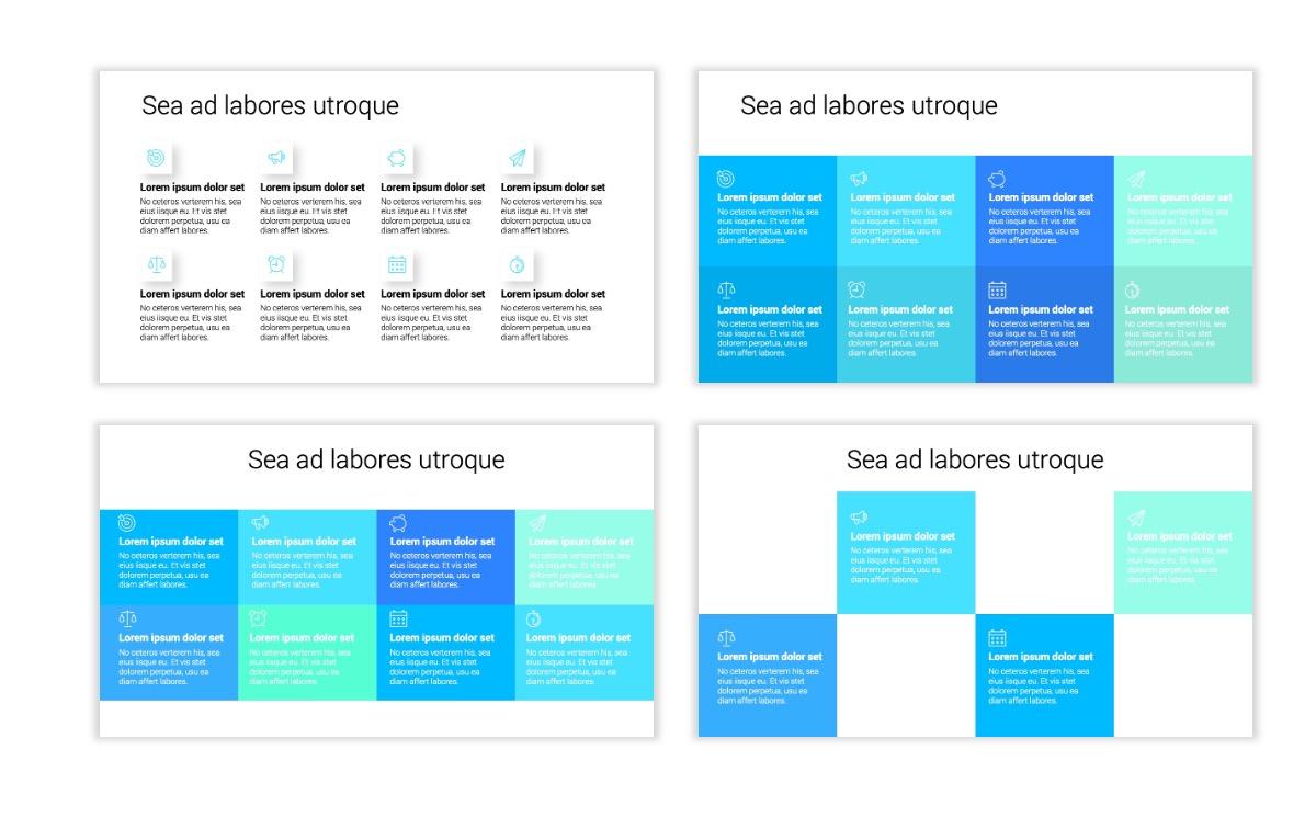 Minimal PPT Templates - Seafoam - Bright - Monochrome - Interior Design - Real Estate Slide18