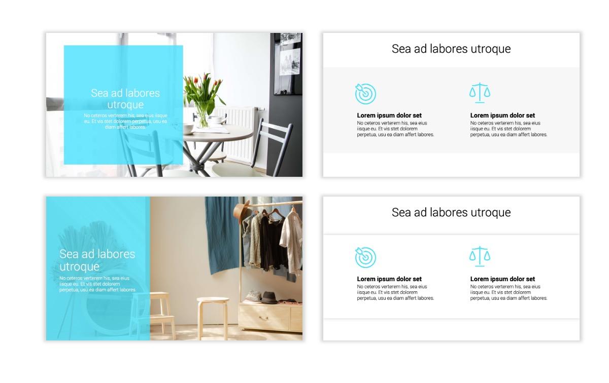 Minimal PPT Templates - Seafoam - Bright - Monochrome - Interior Design - Real Estate Slide2