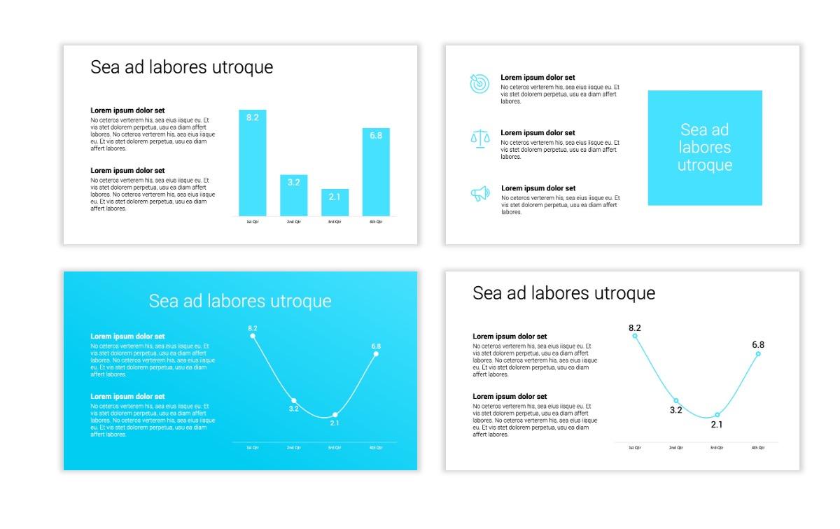 Minimal PPT Templates - Seafoam - Bright - Monochrome - Interior Design - Real Estate Slide5