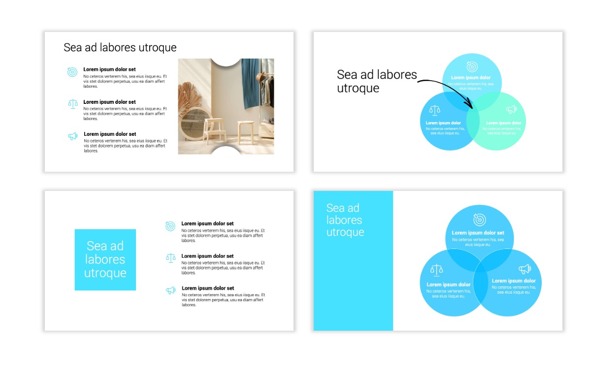 Minimal PPT Templates - Seafoam - Bright - Monochrome - Interior Design - Real Estate Slide6