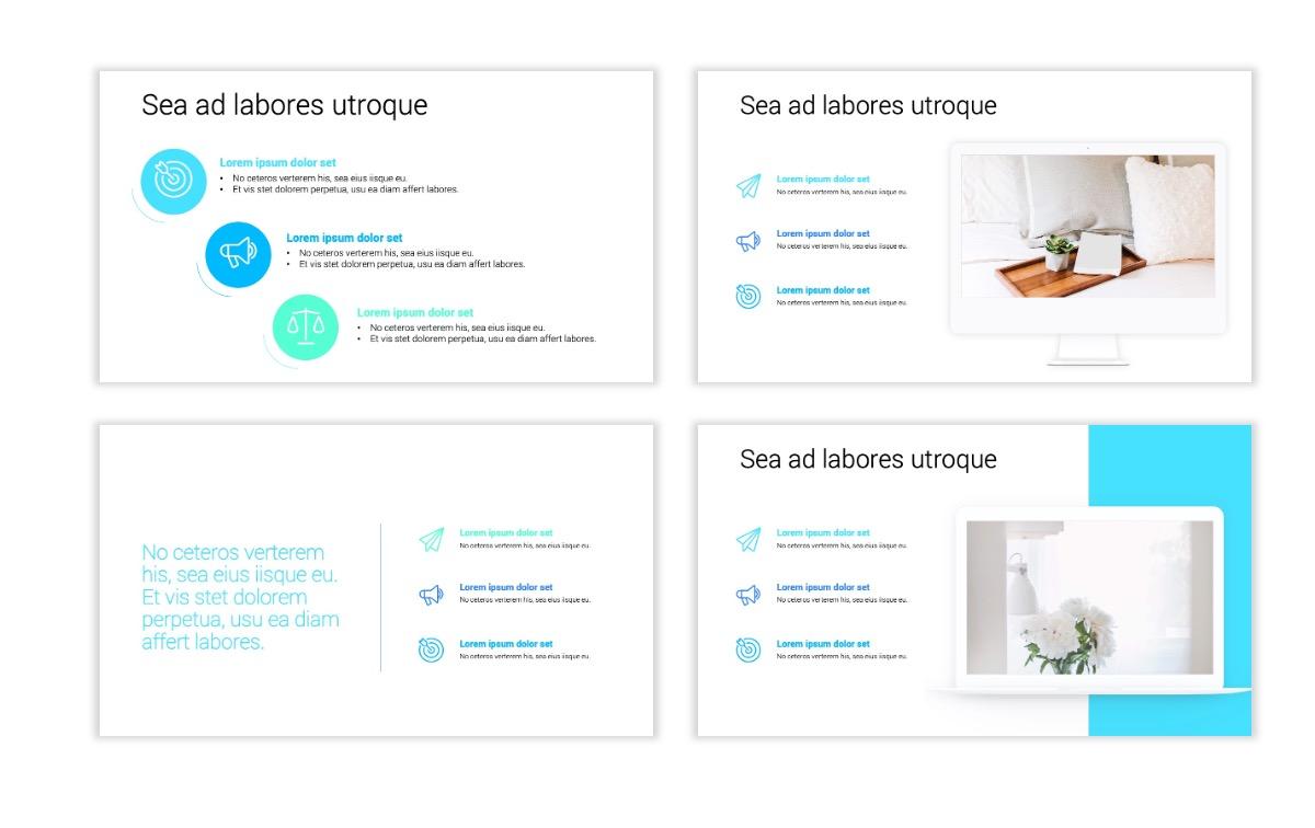 Minimal PPT Templates - Seafoam - Bright - Monochrome - Interior Design - Real Estate Slide9