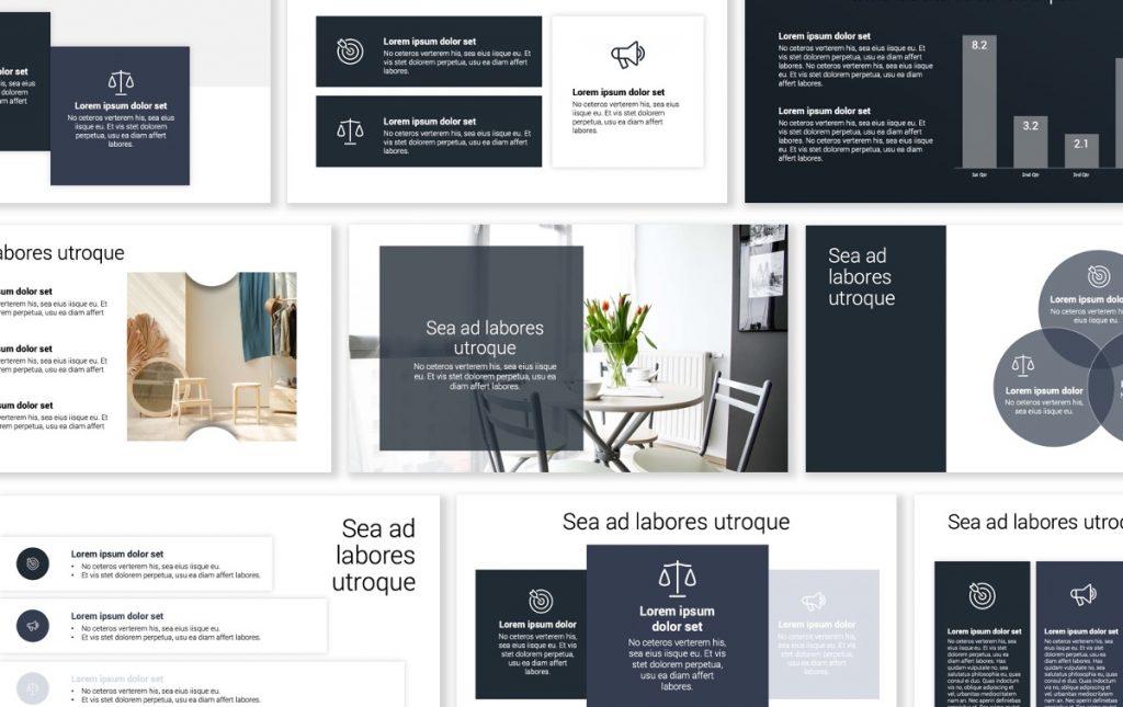 Toronto Minimal Gray PowerPoint Template