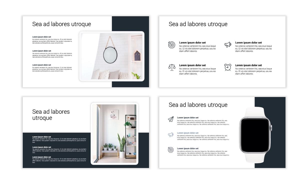 Minimal PPT Templates - Slate Gray Neutral - Monochrome - Interior Design - Real Estate Slide10
