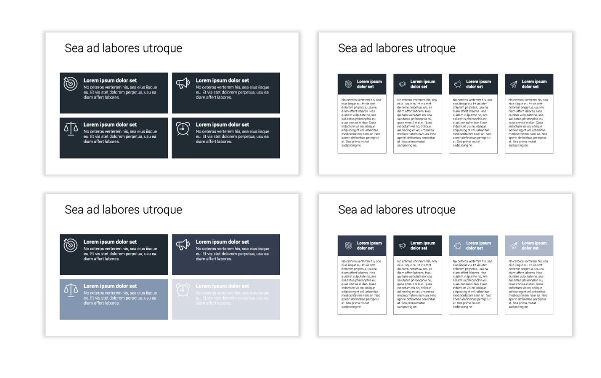 Minimal PPT Templates - Slate Gray Neutral - Monochrome - Interior Design - Real Estate Slide12