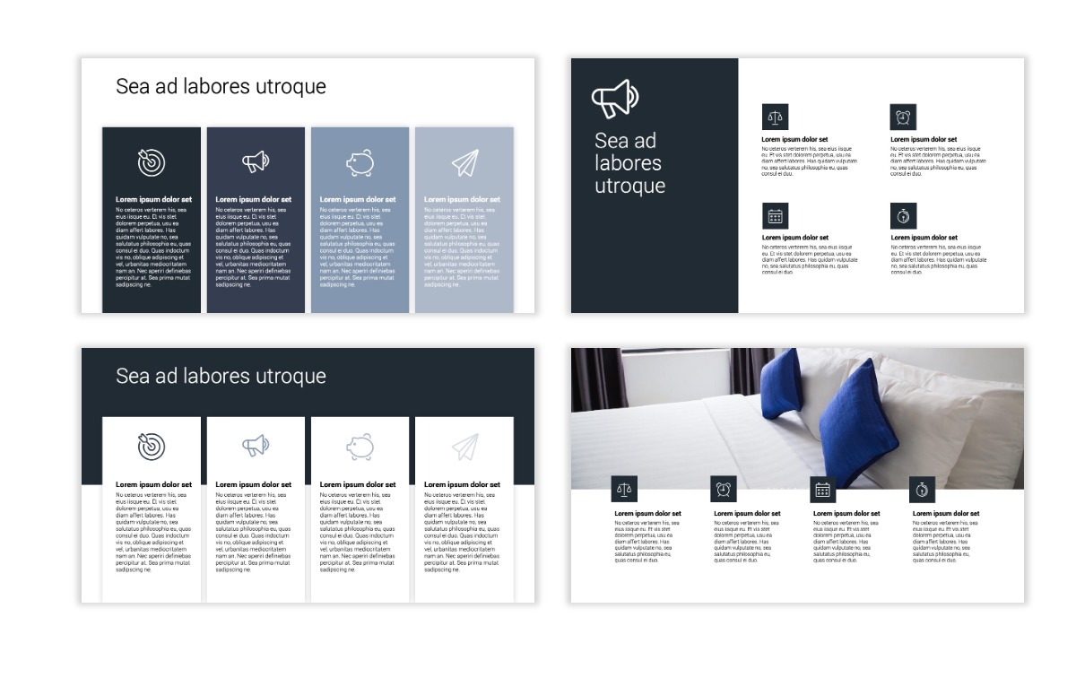 Minimal PPT Templates - Slate Gray Neutral - Monochrome - Interior Design - Real Estate Slide13