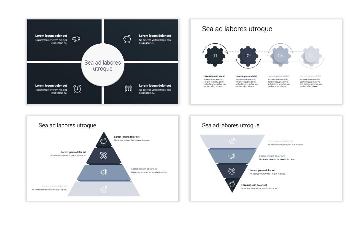 Minimal PPT Templates - Slate Gray Neutral - Monochrome - Interior Design - Real Estate Slide16