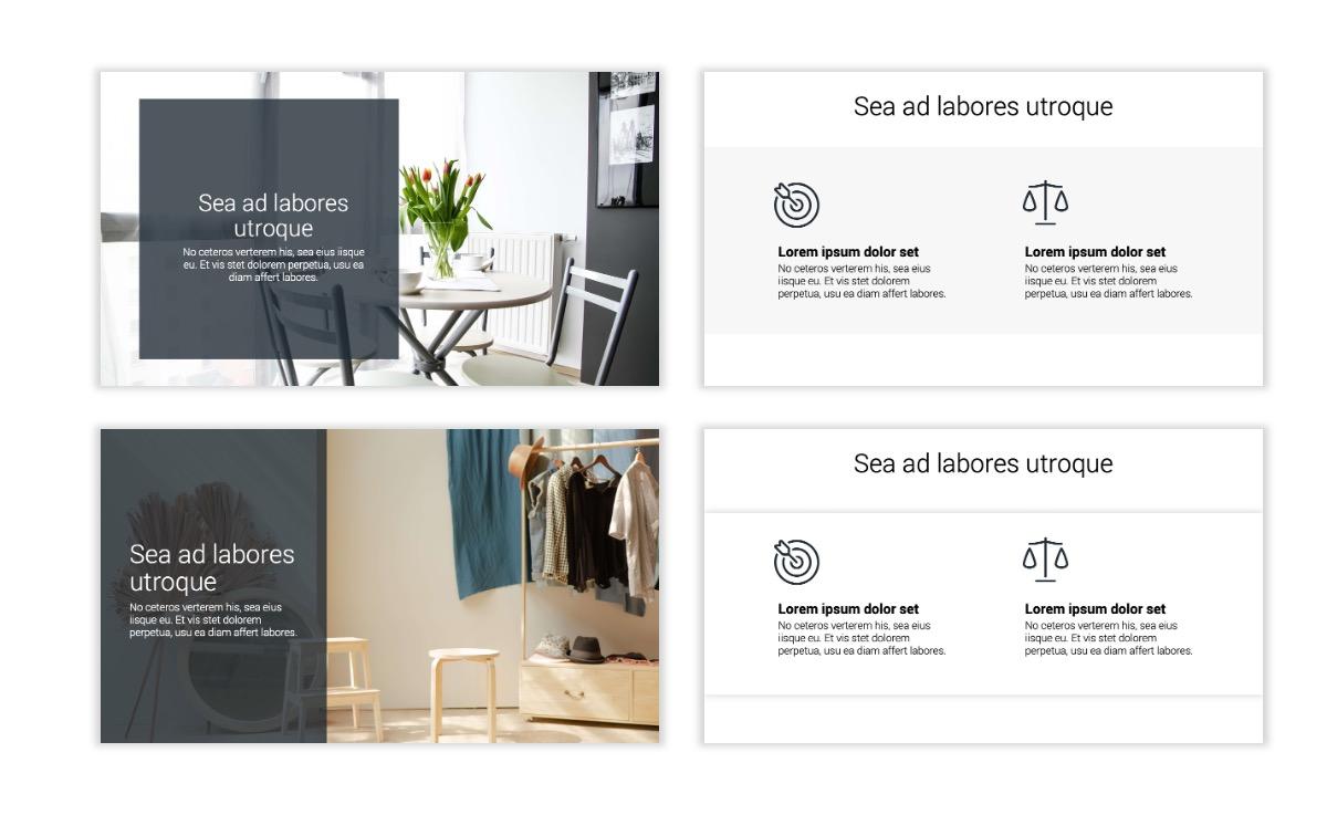 Minimal PPT Templates - Slate Gray Neutral - Monochrome - Interior Design - Real Estate Slide2