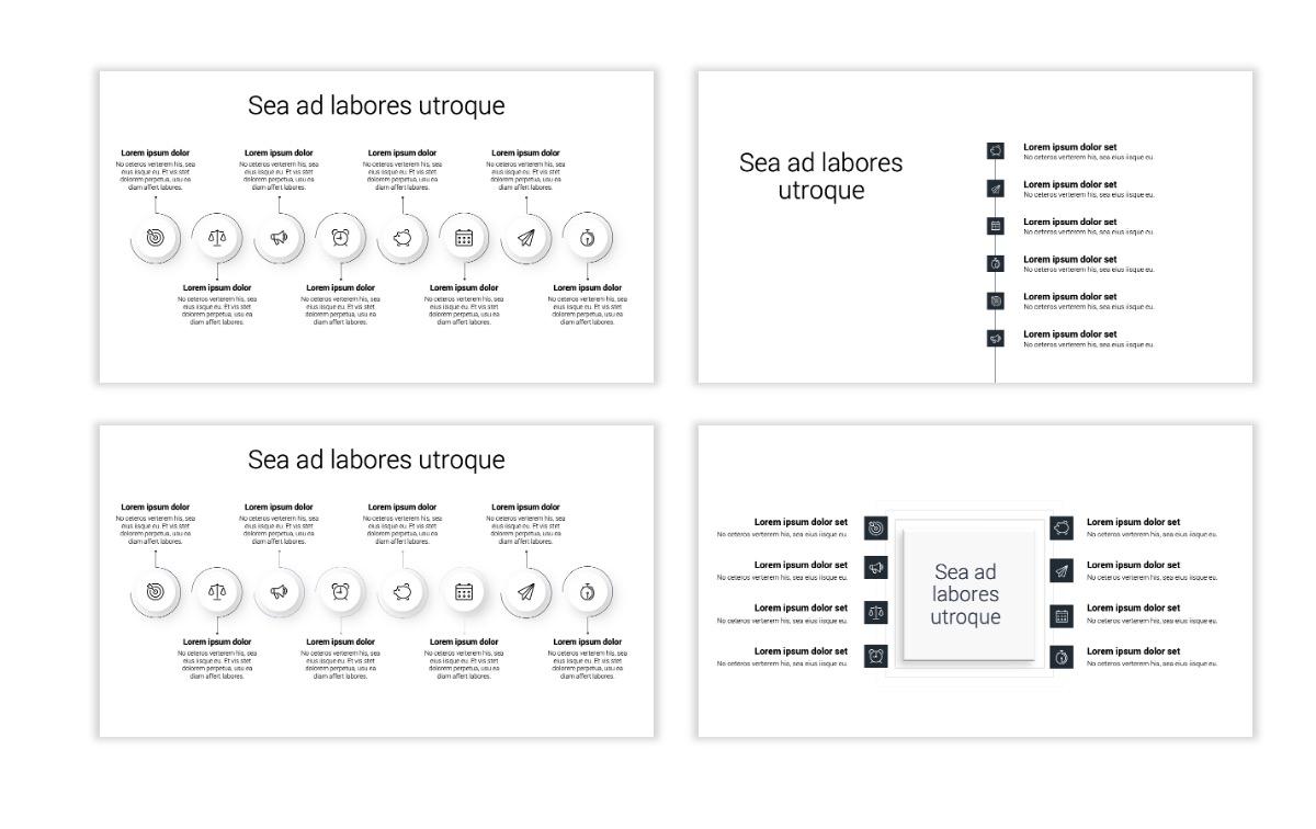 Minimal PPT Templates - Slate Gray Neutral - Monochrome - Interior Design - Real Estate Slide20
