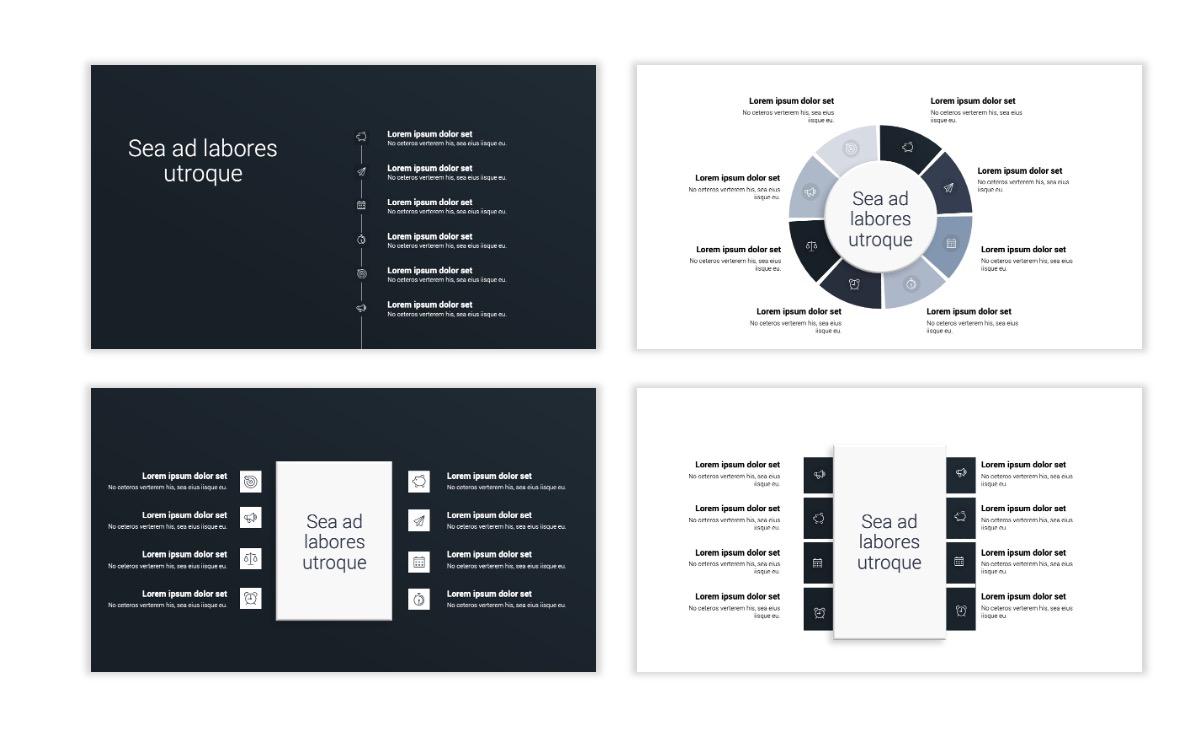 Minimal PPT Templates - Slate Gray Neutral - Monochrome - Interior Design - Real Estate Slide21