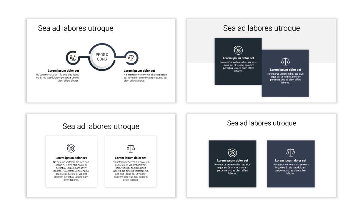 Minimal PPT Templates - Slate Gray Neutral - Monochrome - Interior Design - Real Estate Slide3