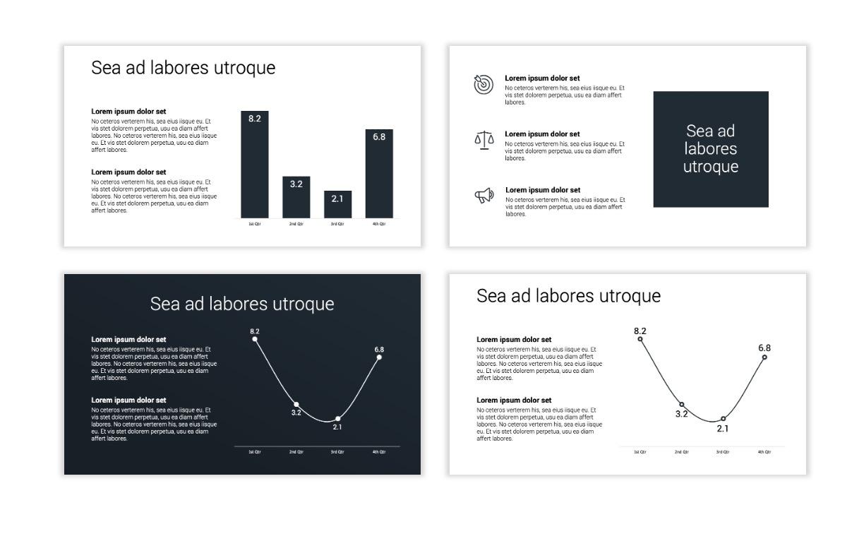 Minimal PPT Templates - Slate Gray Neutral - Monochrome - Interior Design - Real Estate Slide5