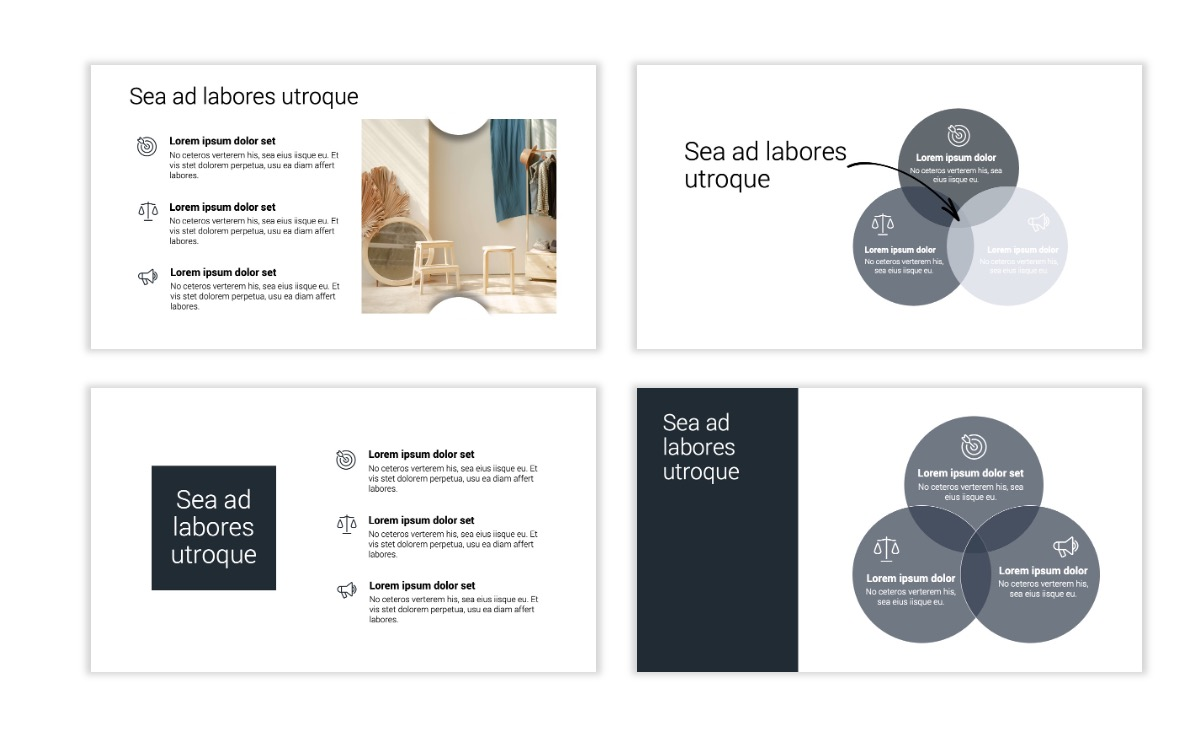 Minimal PPT Templates - Slate Gray Neutral - Monochrome - Interior Design - Real Estate Slide6