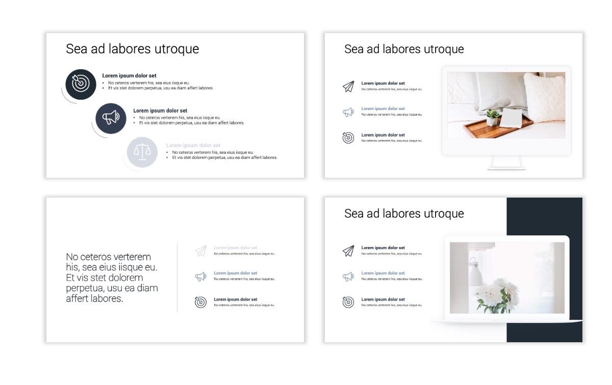 Minimal PPT Templates - Slate Gray Neutral - Monochrome - Interior Design - Real Estate Slide9