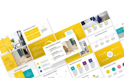 TORONTO MINIMAL BRIGHT YELLOW POWERPOINT TEMPLATE