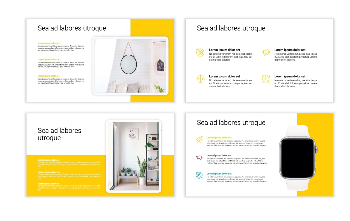 Minimal PPT Templates - Yellow - Bright - Colorful - Interior Design - Real Estate Slide10