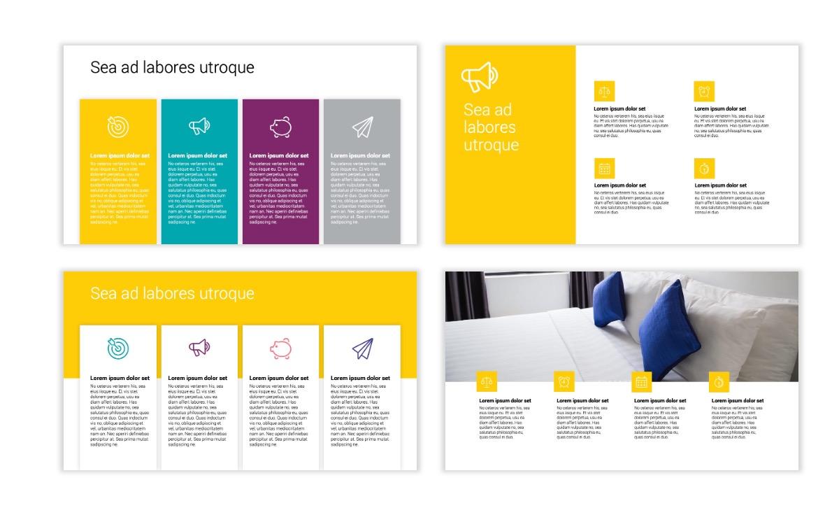 Minimal PPT Templates - Yellow - Bright - Colorful - Interior Design - Real Estate Slide13