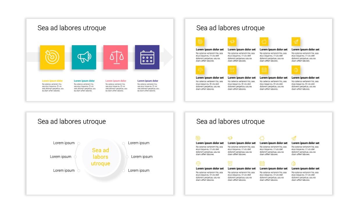 Minimal PPT Templates - Yellow - Bright - Colorful - Interior Design - Real Estate Slide17