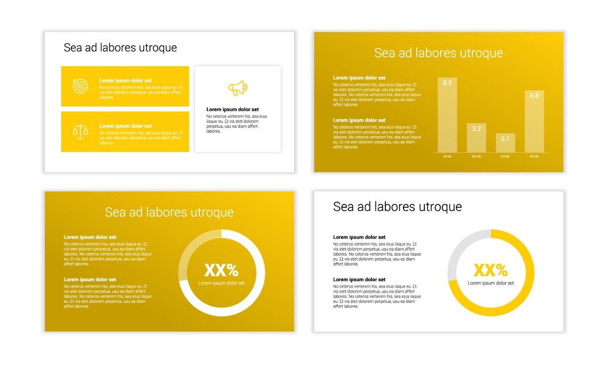 Minimal PPT Templates - Yellow - Bright - Colorful - Interior Design - Real Estate Slide4