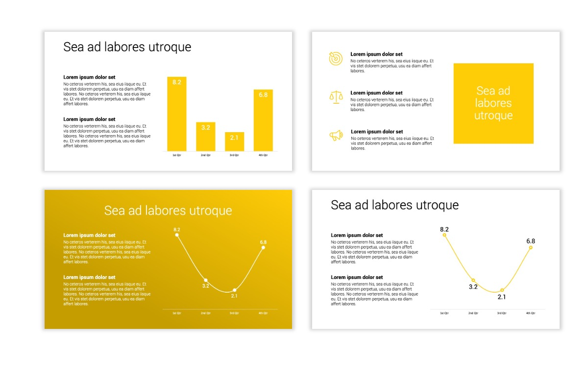 Minimal PPT Templates - Yellow - Bright - Colorful - Interior Design - Real Estate Slide5