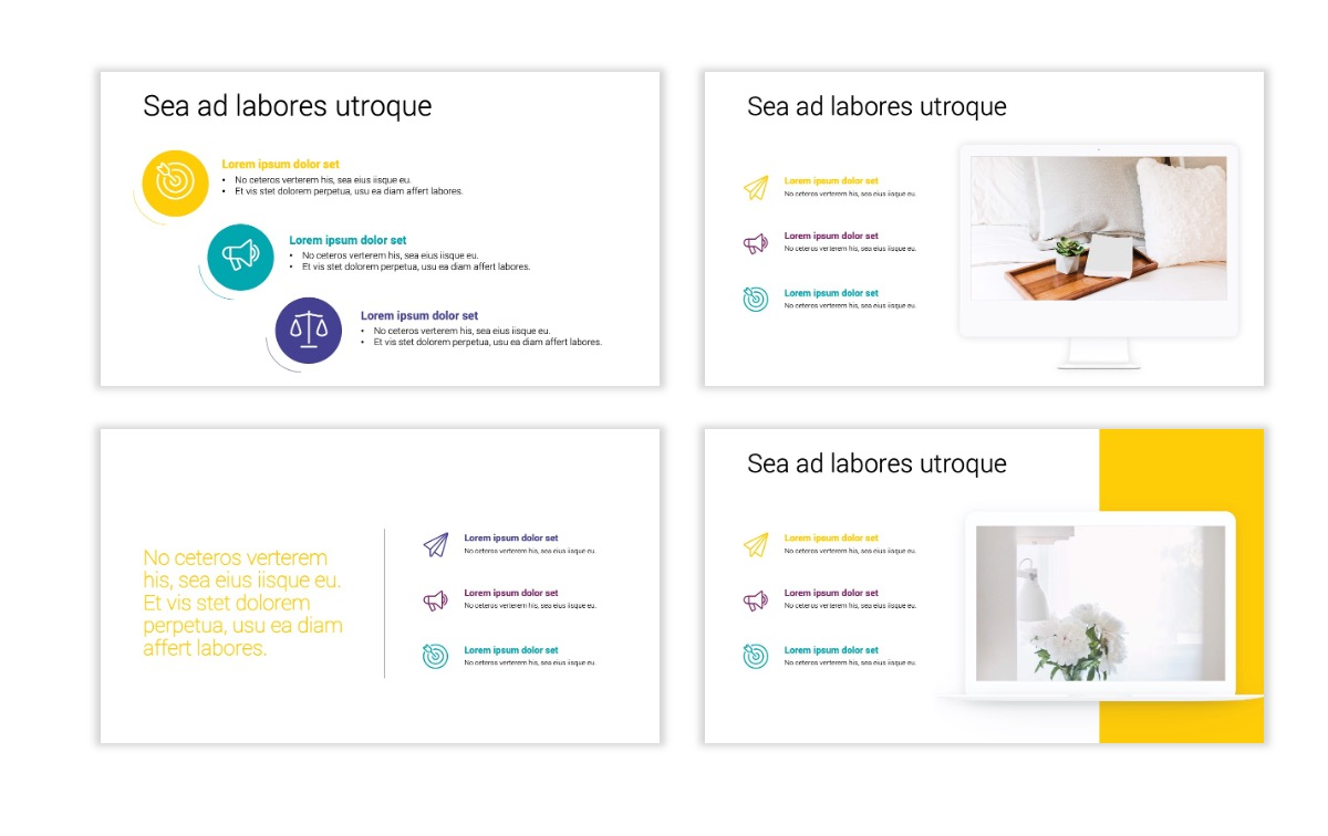 Minimal PPT Templates - Yellow - Bright - Colorful - Interior Design - Real Estate Slide9