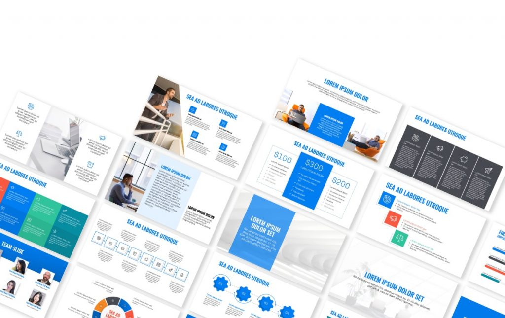 OSLO PROFESSIONAL BRIGHT BLUE POWERPOINT TEMPLATE