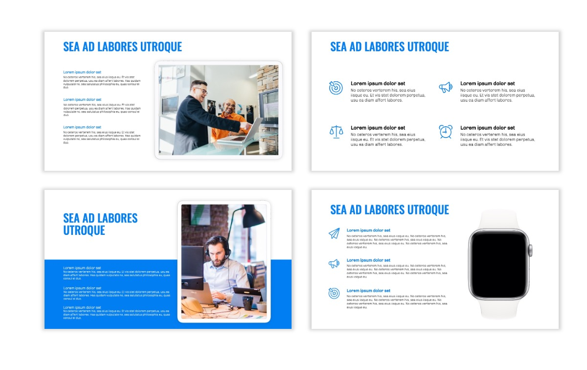 OSLO - Minimal - Blue -Bright - Business - Professional - Aesthetic - Clean - Minimal Slide10
