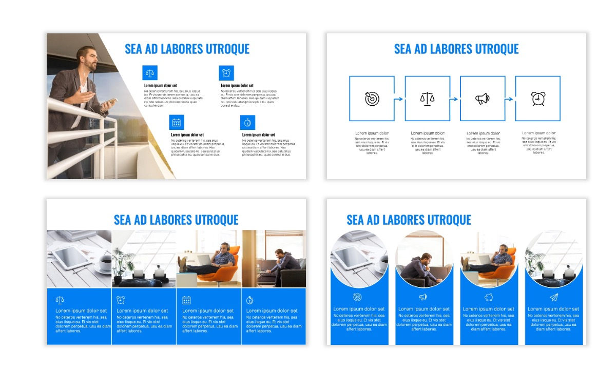 OSLO - Minimal - Blue -Bright - Business - Professional - Aesthetic - Clean - Minimal Slide14