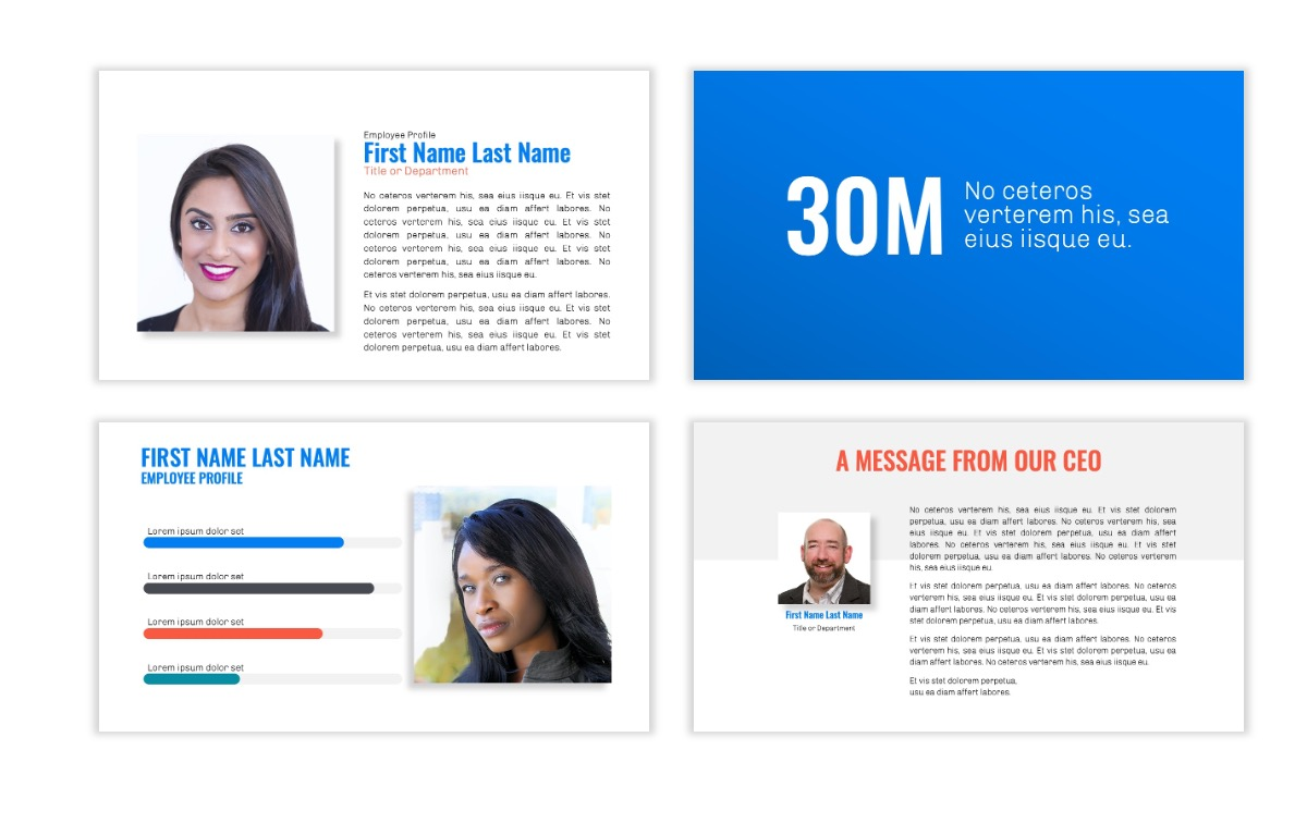 OSLO - Minimal - Blue -Bright - Business - Professional - Aesthetic - Clean - Minimal Slide24