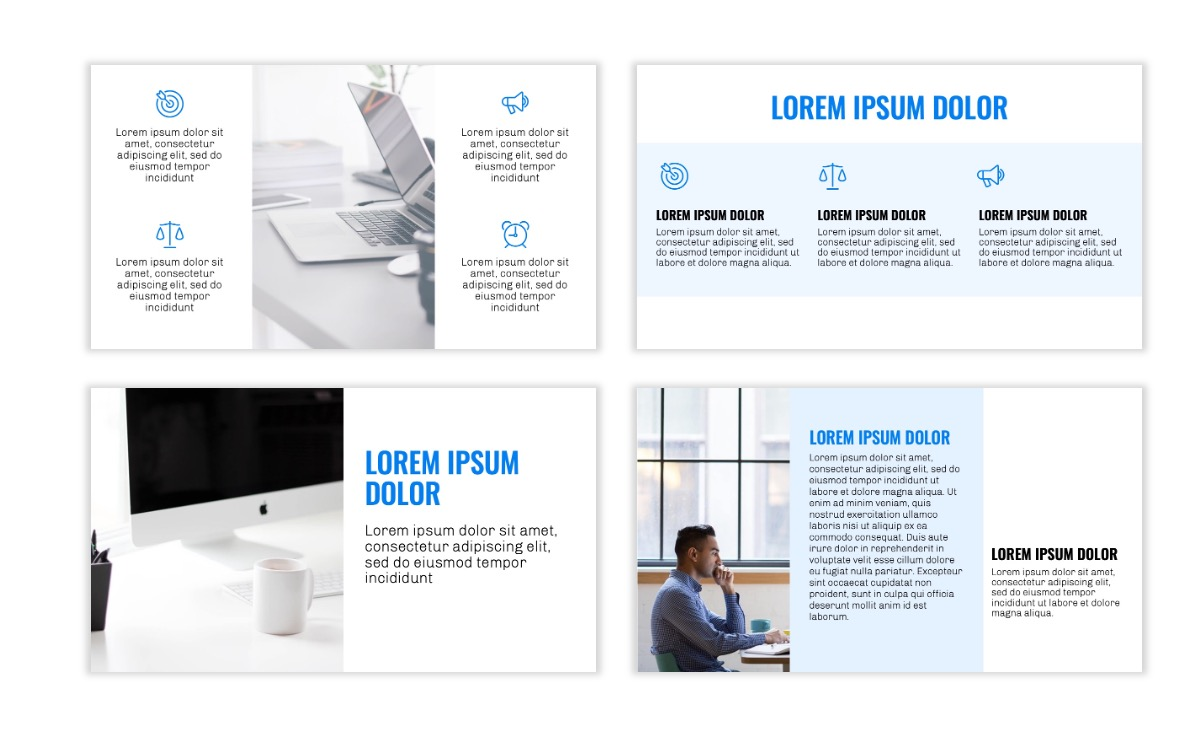 OSLO - Minimal - Blue -Bright - Business - Professional - Aesthetic - Clean - Minimal Slide3