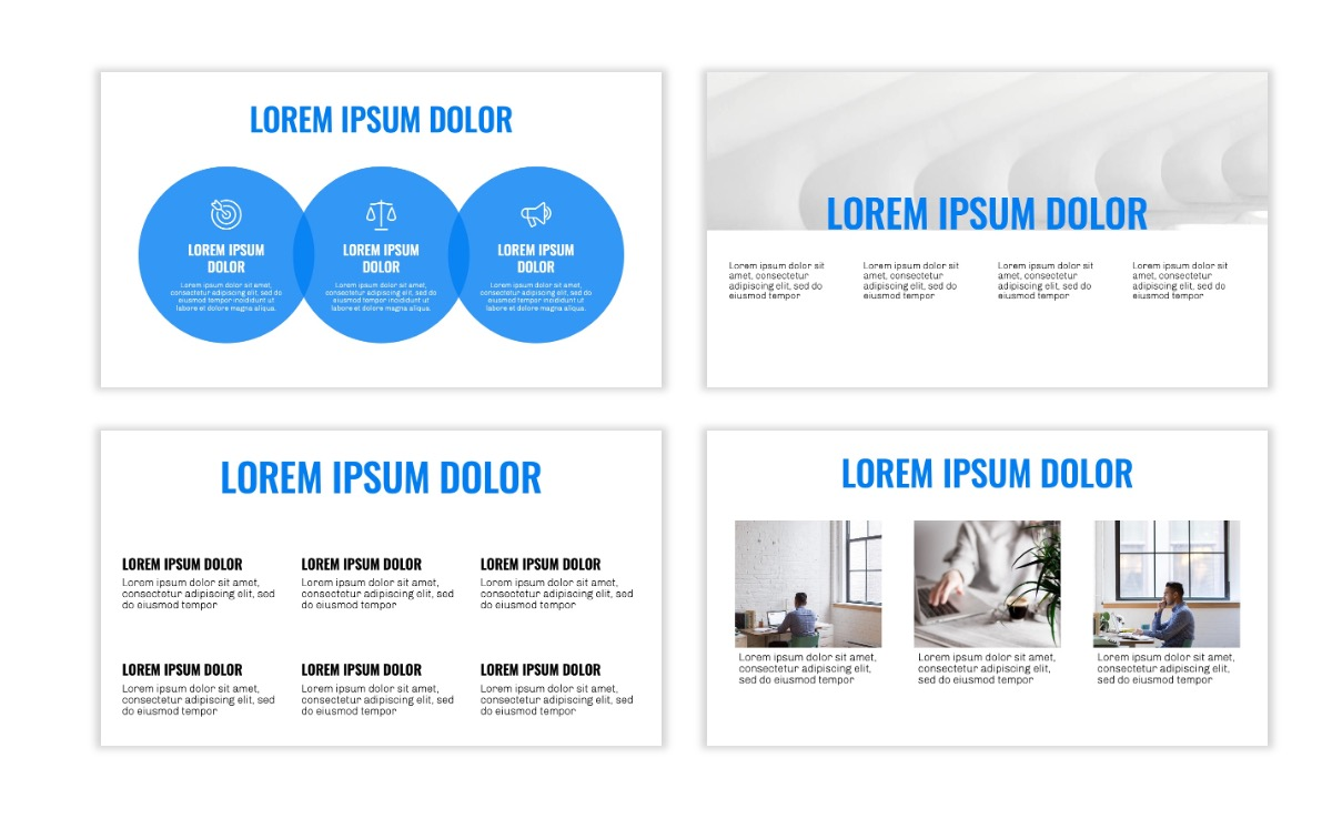 OSLO - Minimal - Blue -Bright - Business - Professional - Aesthetic - Clean - Minimal Slide4