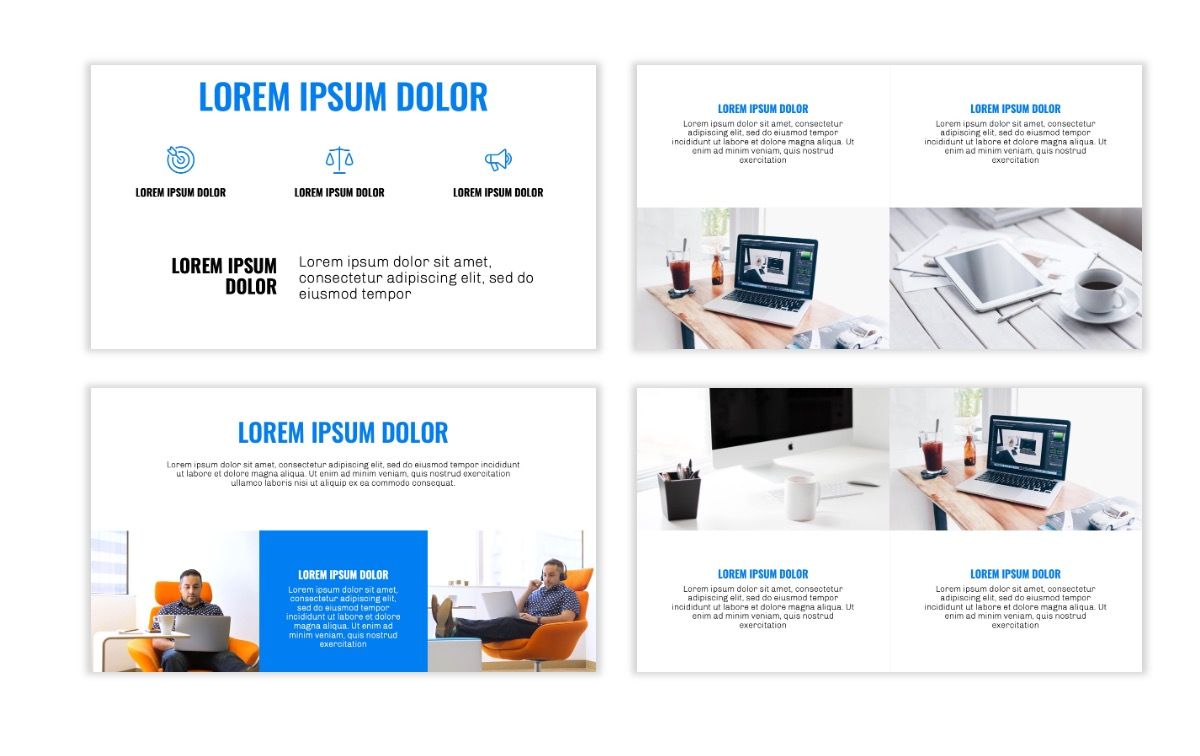 OSLO - Minimal - Blue -Bright - Business - Professional - Aesthetic - Clean - Minimal Slide6