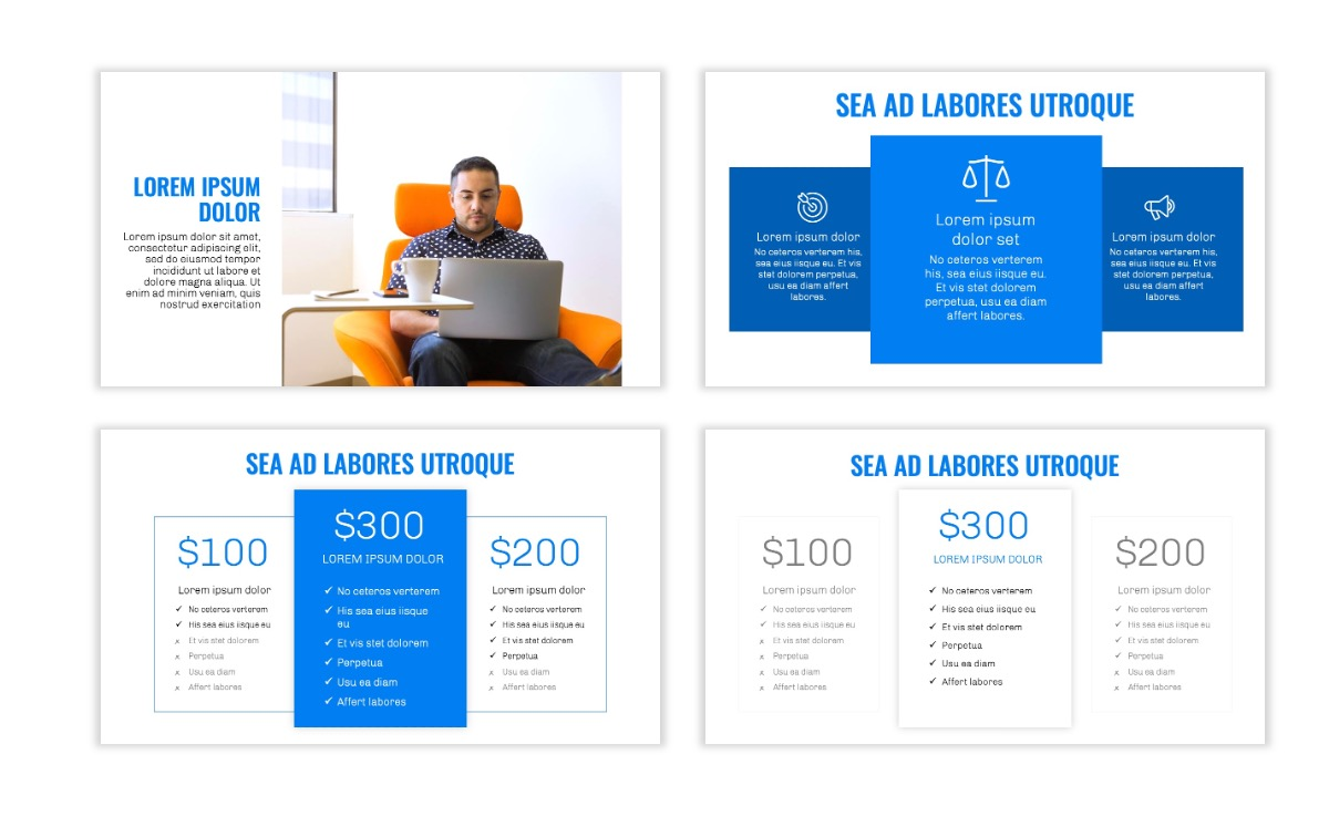 OSLO - Minimal - Blue -Bright - Business - Professional - Aesthetic - Clean - Minimal Slide8