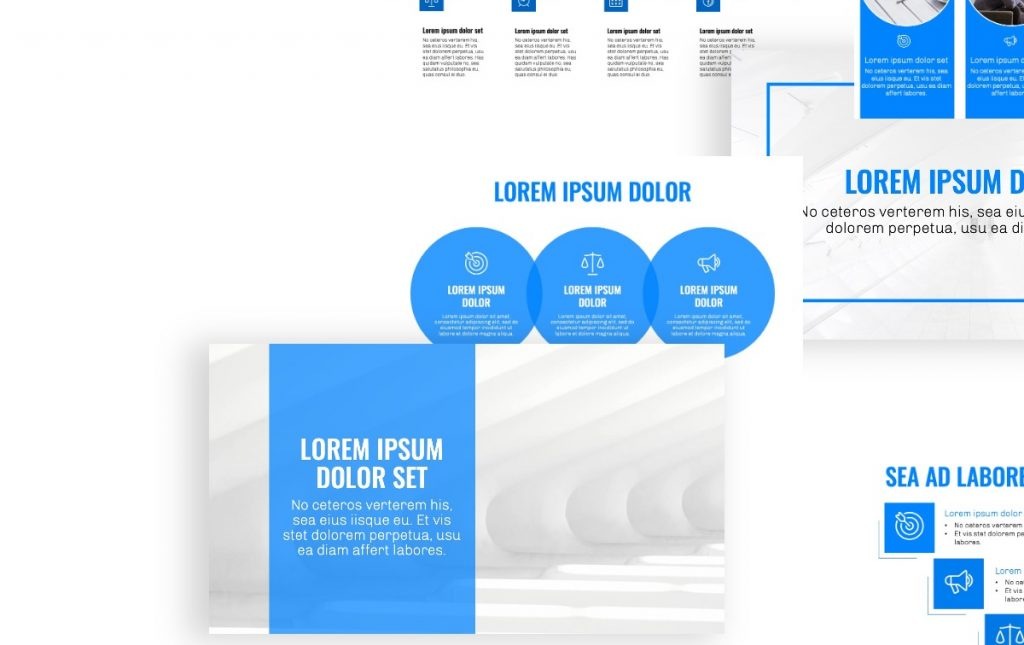 OSLO PROFESSIONAL BLUE POWERPOINT TEMPLATE