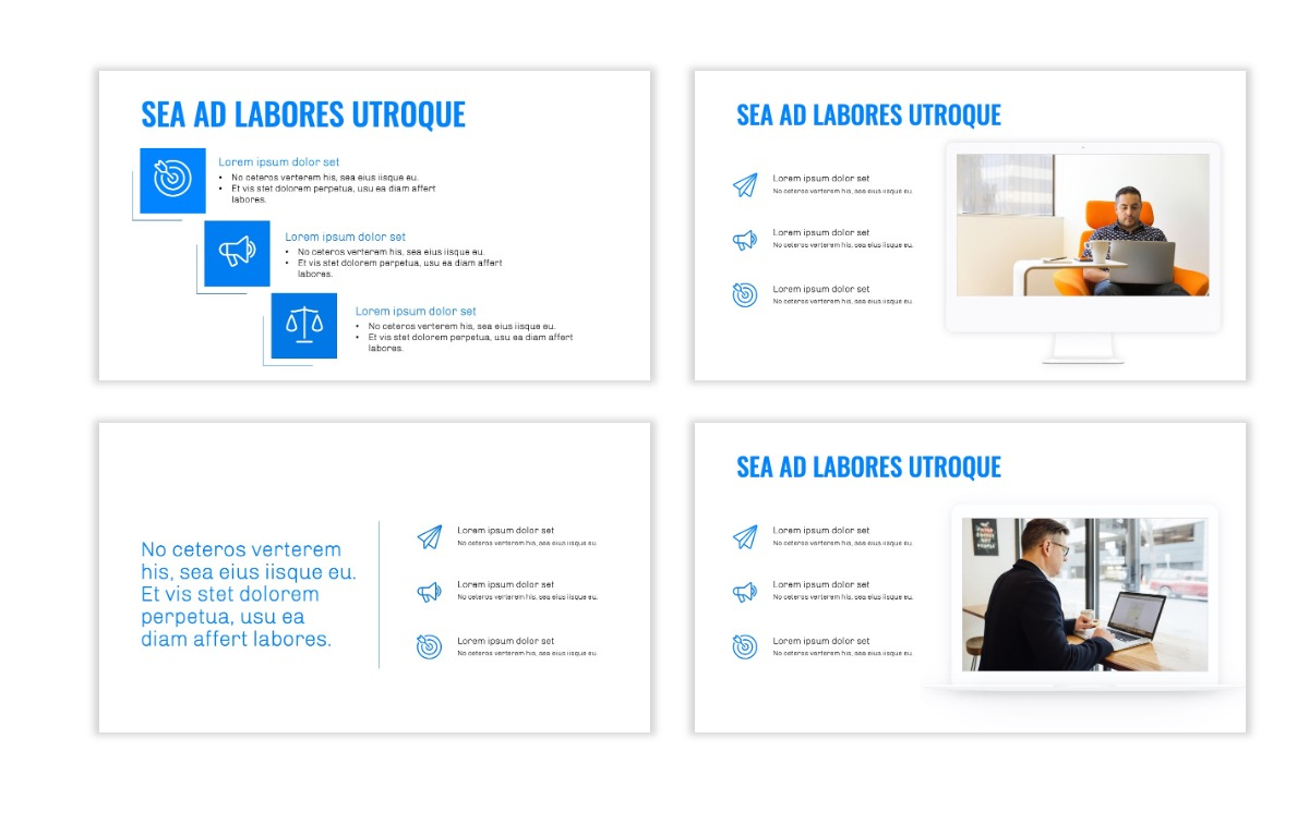 OSLO - Minimal - Blue - Business - Professional - Aesthetic - Clean - Minimal Slide9