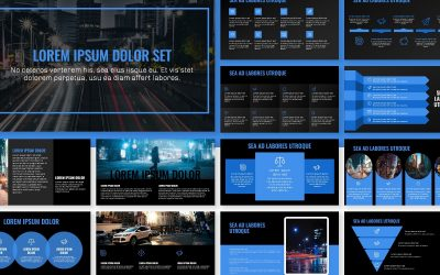 OSLO PROFESSIONAL DARK BLUE FREE POWERPOINT TEMPLATE
