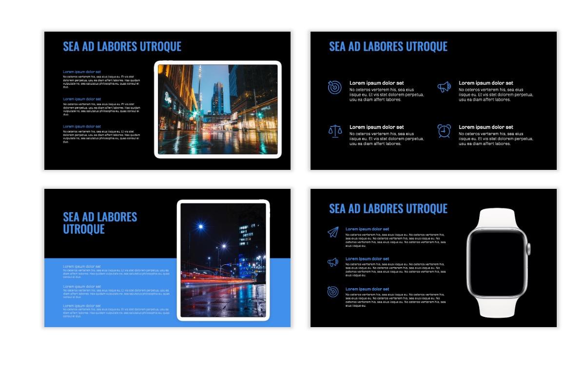 OSLO - Minimal - Dark Blue - Business - Professional - Aesthetic - Clean - Minimal Slide10