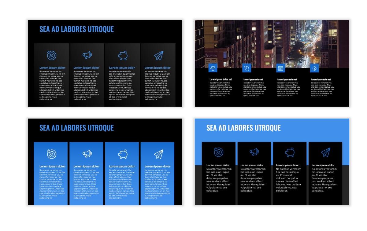 OSLO - Minimal - Dark Blue - Business - Professional - Aesthetic - Clean - Minimal Slide13