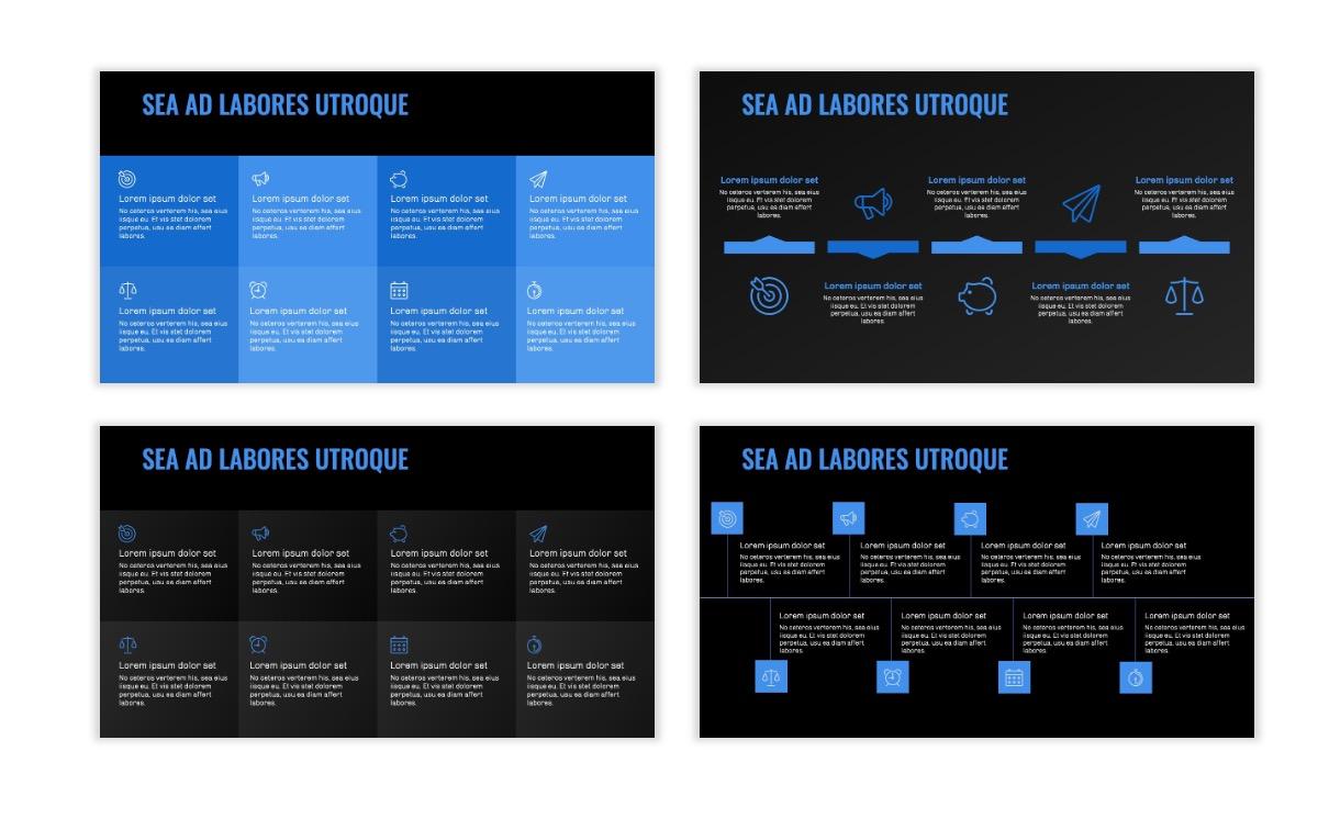 OSLO - Minimal - Dark Blue - Business - Professional - Aesthetic - Clean - Minimal Slide19