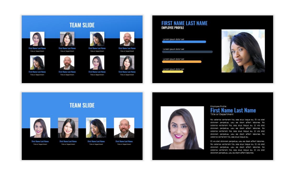 OSLO - Minimal - Dark Blue - Business - Professional - Aesthetic - Clean - Minimal Slide24