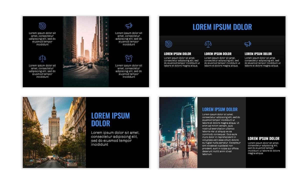 OSLO - Minimal - Dark Blue - Business - Professional - Aesthetic - Clean - Minimal Slide3