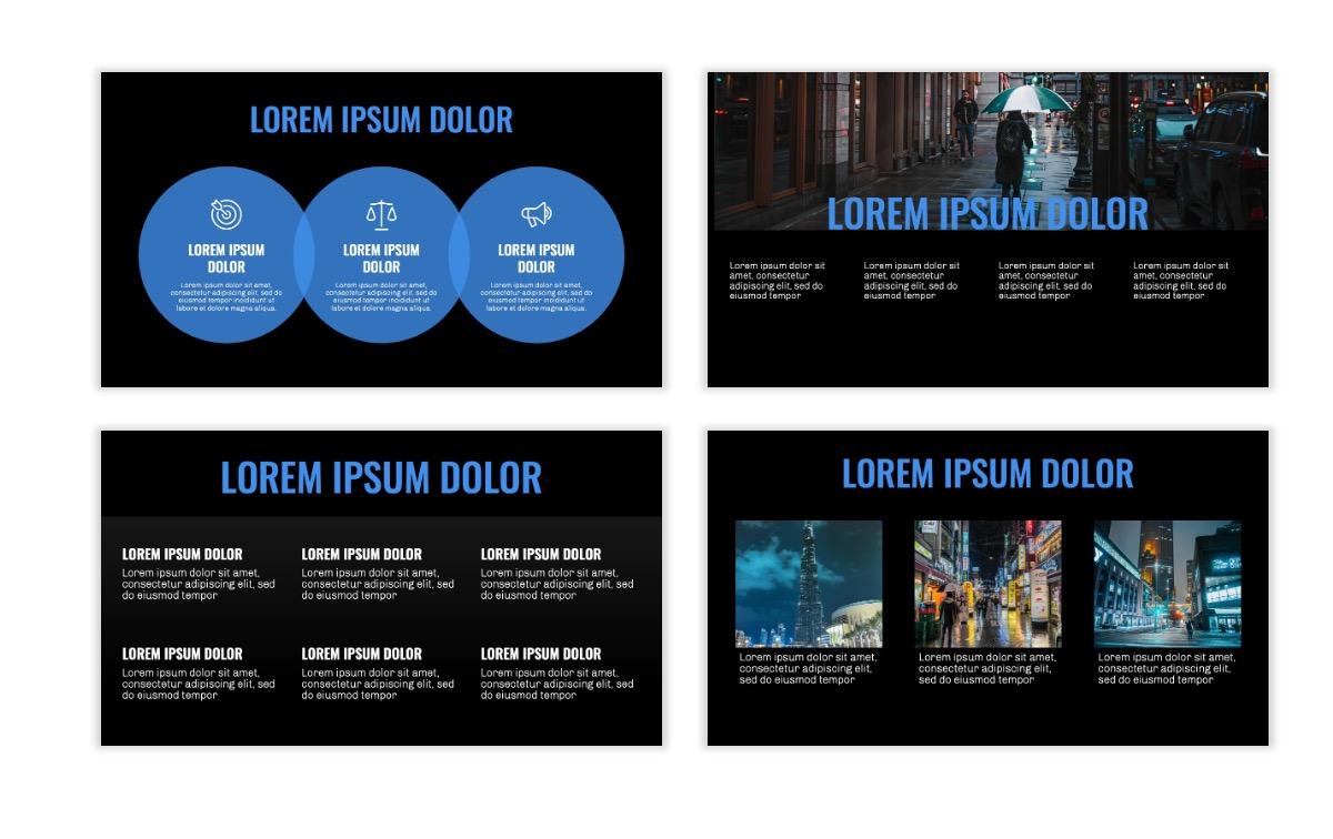 OSLO - Minimal - Dark Blue - Business - Professional - Aesthetic - Clean - Minimal Slide4