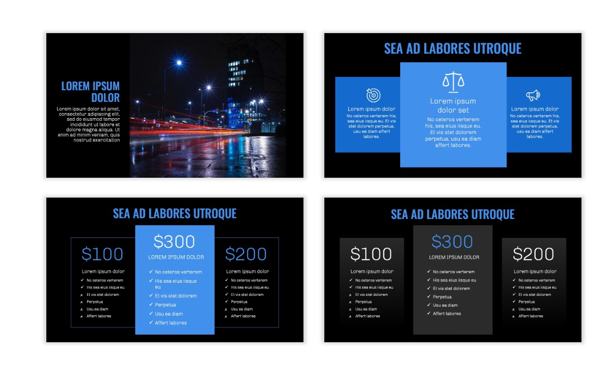 OSLO - Minimal - Dark Blue - Business - Professional - Aesthetic - Clean - Minimal Slide8