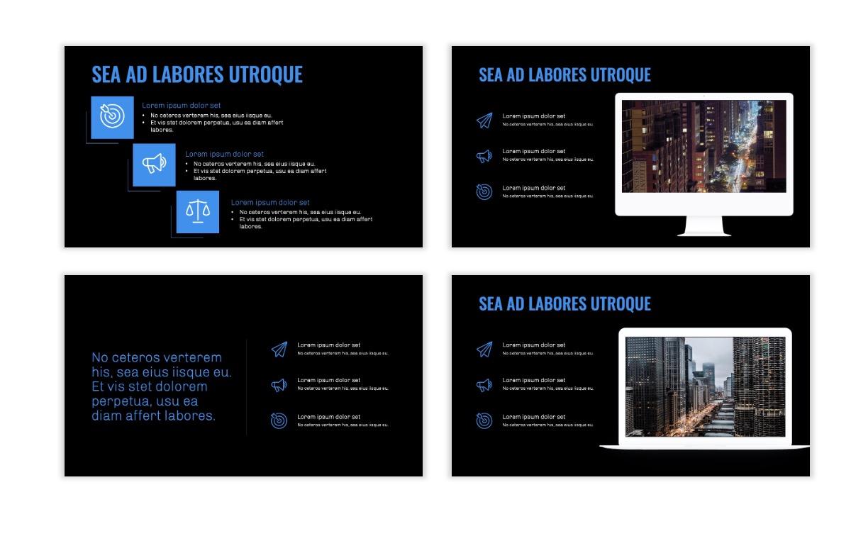 OSLO - Minimal - Dark Blue - Business - Professional - Aesthetic - Clean - Minimal Slide9